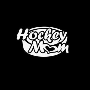 Hockey Mom Window Decal a2