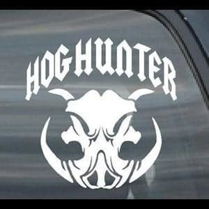 Hog Hunter Tusks Window Decal