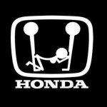 Honda Logo Funny JDM Car Window Decal Stickers
