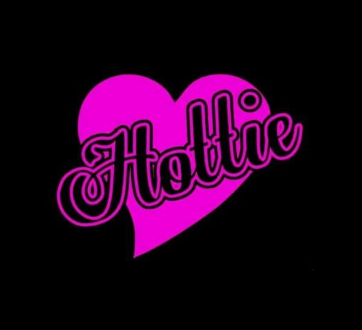 Hottie Heart Window Decal Sticker - https://customstickershop.us/product-category/stickers-for-cars/