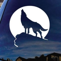 Wolf Howling Car Decal Sticker