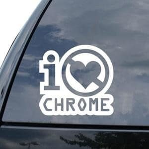 Hate Chrome JDM Window Decal - https://customstickershop.us/product-category/jdm-stickers/