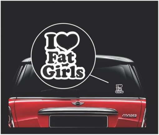 i love fat girls jdm window decal sticker