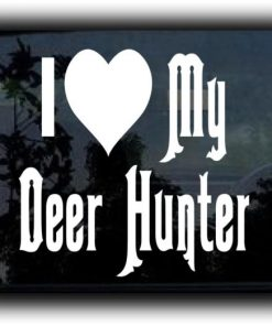 I Love my Deer Hunter Decal Sticker