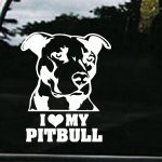 I love my pitbull decal sticker