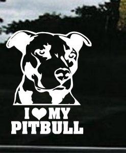 I love my pitbull decal sticker