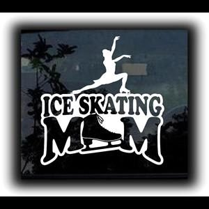Ice Skating Mom Window Decal a1