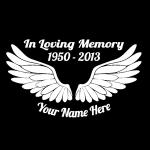 In Loving Memory Decals Angel Wings