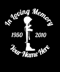 in loving memory army boots helmet gun (Copy)