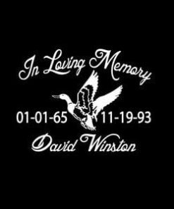 loving Memory Decal Duck Hunter