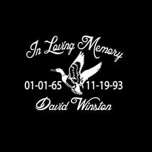 loving Memory Decal Duck Hunter