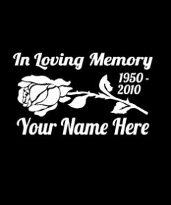 loving Memory Decal Rose Flower