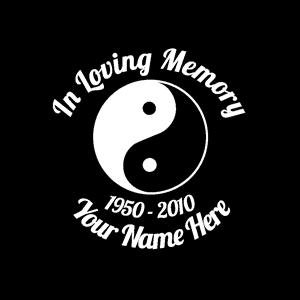 loving Memory Decal Yin Yang