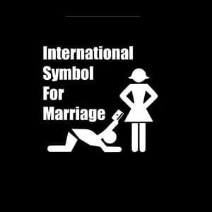 International symbol marriage Decal