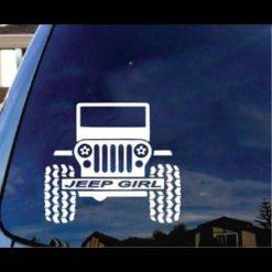 Jeep Girl Window Decal a2