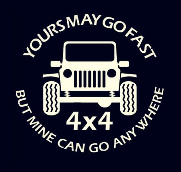 Jeep Go Anywhere Vinyl Decal Stickers