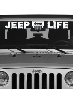 Jeep Life Windshield Decal - //customstickershop.us/product-category/windshield-decals/