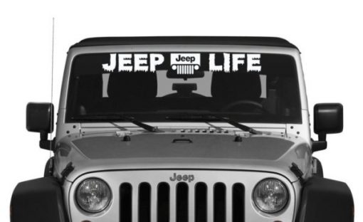 Jeep Life Windshield Decal - https://customstickershop.us/product-category/windshield-decals/