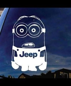 Jeep Minion Window Decal