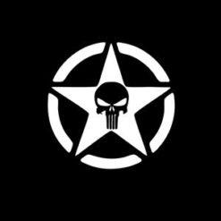 Jeep Punisher Star Window Decal