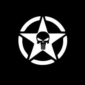 Jeep Punisher Star Window Decal