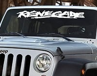 Jeep Renegade Windshield Decal - https://customstickershop.us/product-category/windshield-decals/