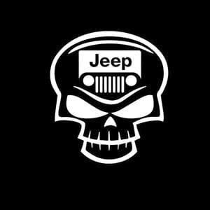 Jeep Decal Skull grill a1