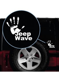 jeep wave hand window decal sticker a2