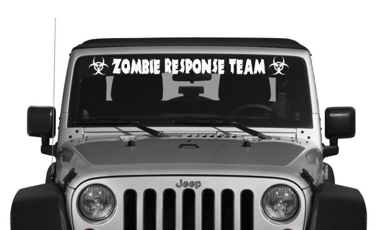 Zombie Response Team Windshield Decal - https://customstickershop.us/product-category/windshield-decals/