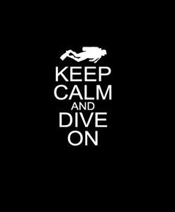 Keep calm and Dive Window Decal