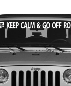 Jeep Keep Calm Windshield Decal - //customstickershop.us/product-category/windshield-decals/