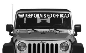 Jeep Keep Calm Windshield Decal - https://customstickershop.us/product-category/windshield-decals/