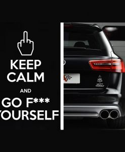 Keep Calm and Go F ck Yourself Decal - https://customstickershop.us/product-category/stickers-for-cars/