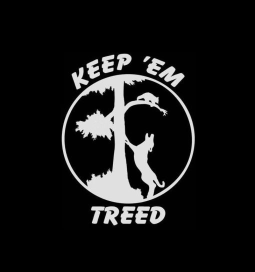Coon Hunter Sticker Keep em treed