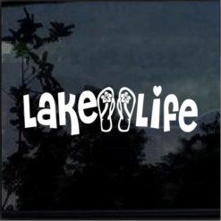lake life flip flops decal sticker