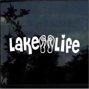 lake life flip flops decal sticker