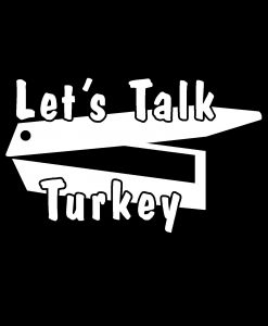 Lets Talk Turkey Call Decal Sticker