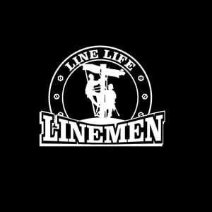 Line Life Lineman Window Decal