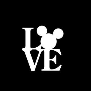 Love Mickey Mouse Window Decal