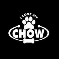 Love my Chow Window Decals