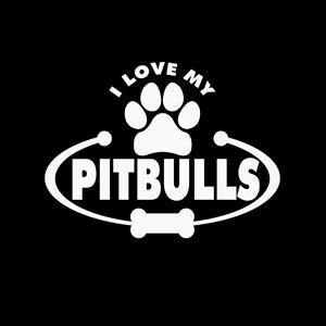 Love my Pitbulls Window Decals