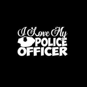 Love My Police Officer Window Decal