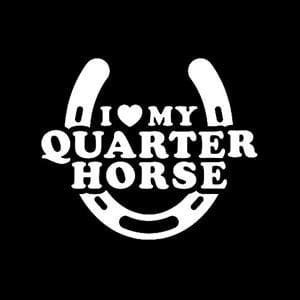 Love My Quarter Horse Decal