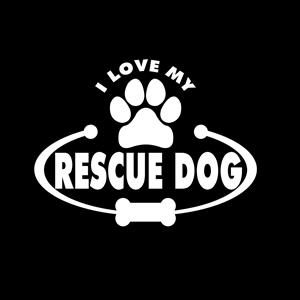 RESCUE A DOG Vinyl Window Decal/Sticker Available by ...  |Rescue Window Decals