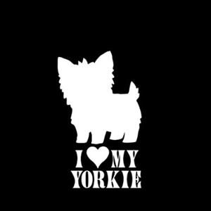Love my Yorkie Window Decal a12