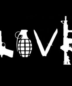 Love Peace Grenade Ak47 Decal