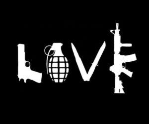 Love Peace Grenade Ak47 Decal