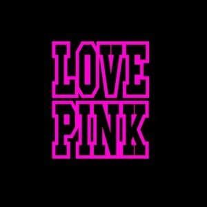 Love Pink Bold Car Window Decal