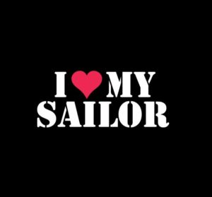Love my sailor window decal sticker