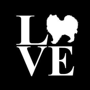 Love Pomeranian Window Decal a1